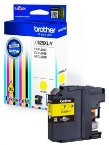 Brother Tusz LC525XLY YELLOW 1300 do DCPJ100 DCPJ105